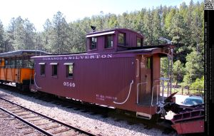 Antique Train Caboose by DamselStock