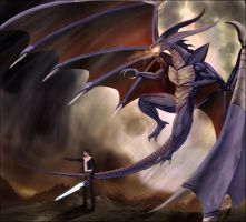 Bahamut and Squall by yume-genjitsu