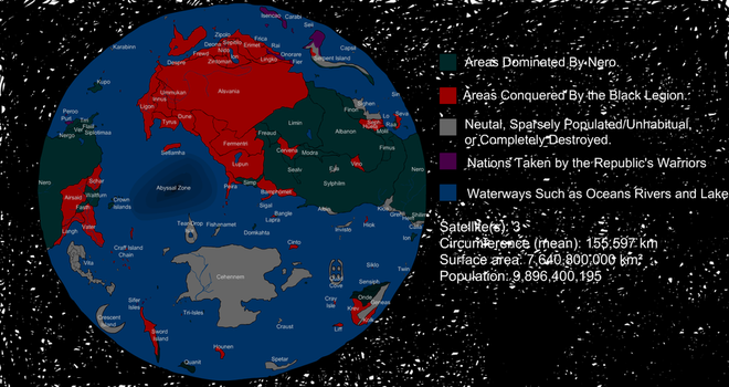 Domin'on: Political Map by ScelesticFish