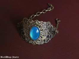 Blue butterfly by BlackWings-jewelry