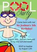 pool party invitation by one8edegree
