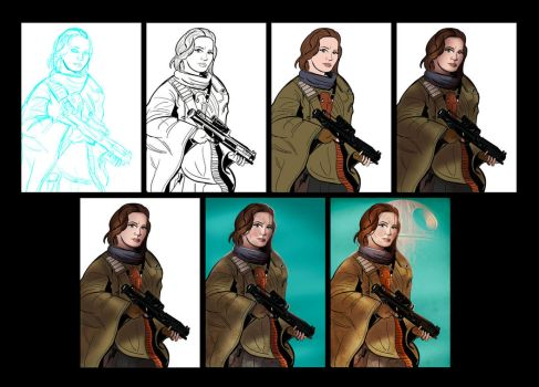 Jyn step by step by Kyber02