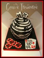 Black and White Poker Cake by gertygetsgangster