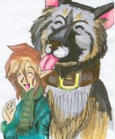 Pippin and a Puppy by PippinIncarnate