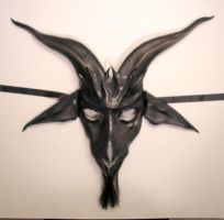 Baphomet Leather Mask by teonova
