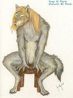 Ambrose werewolf form Sitting by arania