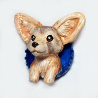 Fennec Fox Pop-Out Magnet by LeiliaClay