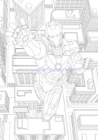 Iron Man (lines) by ryodita