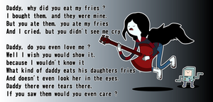 Daddy ate my fries by Inextasie