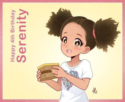 Happy 4th Birthday Serenity by Louistrations