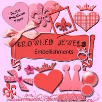 Crowned Jewels Embellishments by NolaOriginals
