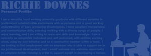 5: Blue: Richie Downes - Personal Profile by TheEmotionalPoet