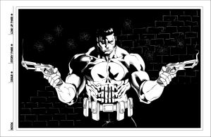 High Res Timothy Green II's Punisher inks by dubbery