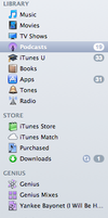 iTunes 10.7 color sidebar by leethray