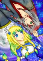 Contest Entry: Erinyes and Shintaro -Universe- by kuraikitsune13
