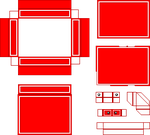 Red with White Outline by QTRQ