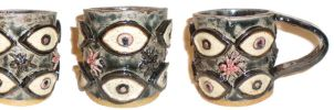 Eye Cup #16, With Ants by aberrantceramics