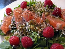 fruit and sprout salad by chrisravensar