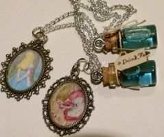 Alice in Wonderland Bottles (Please read info) by ViVoRiNo99