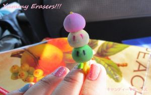 Yummy Dango Erasers by ih8twilite