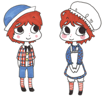 Raggedy Ann n Andy by Madam-Milano