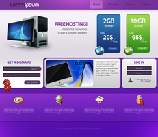 Hosting Web Layout by cestnms