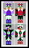 Artober: Day 4 |Pixel/Voxel Art | Custom Skin by VirtualDesignerVixen