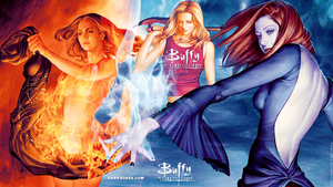 Buffy Willow Faith Wallpaper by theanyanka