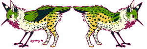 design trade- hummingbird/serval gryphon by jaywalkings