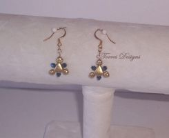 Zora Gold Sapphire Earrings 5 ZELDA by TorresDesigns