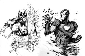 Iron Man VS Captain America by SpiderGuile