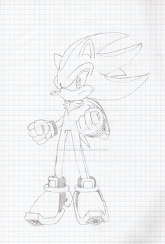 Shadow Sketch by SonictheHedgehog1