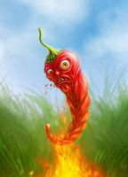Plants vs zombies_Jalapeno by inSOLense