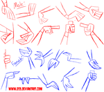TD: Male and Female hands by ES9