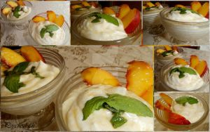 Cream cheese and nectarines collage by nikinik666