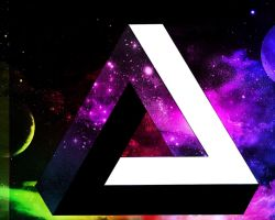 Optical Illusion Triangle (Galaxy)(1280 x 1024px) by VoxelBrony