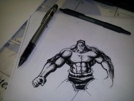 Hulk sketch by task002
