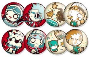 Special Kickstarter shirt project buttons by GoshaDole