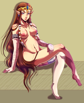 [COM] Princess Zelda Pin-up by Queen-Zelda