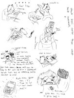 some kind of comic strip about drawing by GhostKITTEN