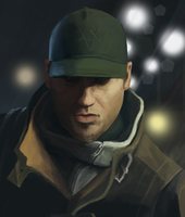 Aiden Pearce from Watch Dogs by Fantasyfull