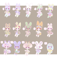{closed} mini bunnies by teresabunnies