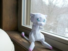 Mew papercraft by Aosou-kun