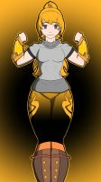 FN@FxRWBY: Yang Xiao Long concept: Colored.  by AV1d