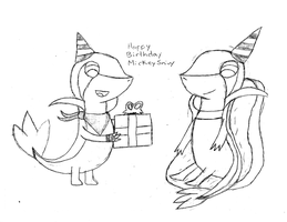 (HBD GIFT) Happy Birthday MickeySnivy by Alejandro10000
