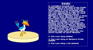 Character Info: Zazu (The Lion King) by kylgrv