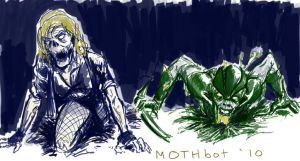 Green Arrow and Black Canary by mothbot