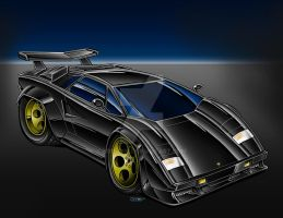Black Lamborghini Countach by Britt8m