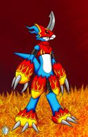 Flamedramon by Meteor-05