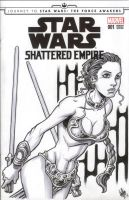 Slave Leia sketch cover commision by teamlattie